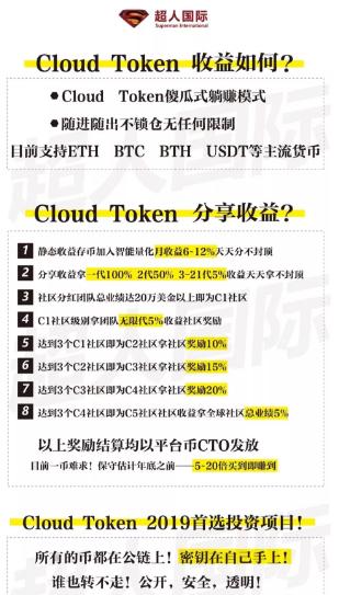 Cloud Token做市场的收益怎么样?具体是怎么结算的?